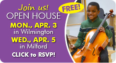 Join our FREE Open House on Monday, April 3, in Wilmington and Wednesday, April 5, in Milford!
