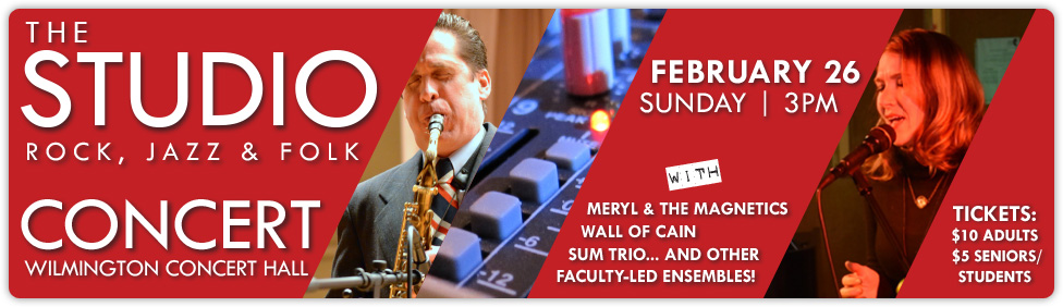 Join us for The Studio: Rock, Jazz & Folk Concert on February 26!