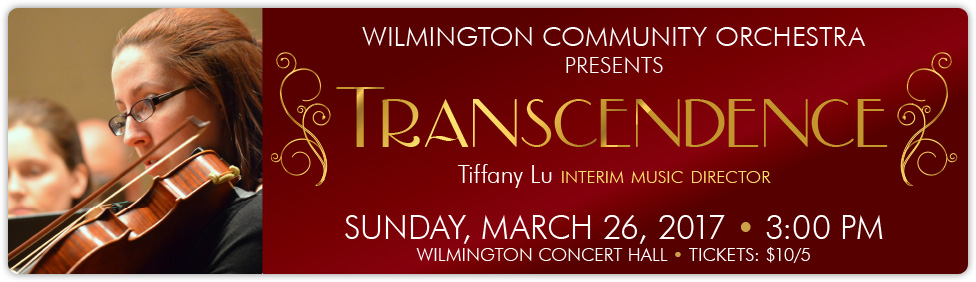 Join us for a concert by the Wilmington Community Orchestra on March 26!